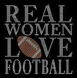 Mulher real amor Football Ferro na transferência Rhinestone