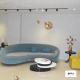 Halber Mond-Form-Grün-Samt gepolstertes Vorhalle-Sofa