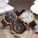 Enfoque Mini Logo OEM automático reloj de pulsera de cuarzo para hombres