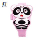 Het roze Mooie Horloge van de Hoofd panda Digitale van Jonge geitjes