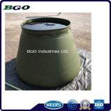 La bâche de protection de l'eau 5000L'Armée du réservoir de réservoir de stockage de l'eau militaire vert