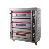 3 Deck 6 bandejas forno para assar o pão de padaria eléctrico da máquina (DKL-60)