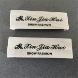 Fondo tira personalizada ropa de etiqueta tejida etiquetas principal