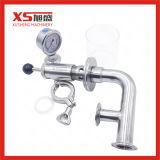 Les mesures sanitaires SS304 en acier inoxydable/SS316L soupape Exhause avec manomètre