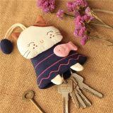 Ткань вышивка ключ Hop-Pocket Cat медали кошелек ключ тканью изменить Pocket цепочке для ключей
