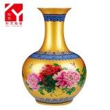 Decoratieve Vaas van het Huis van het Porselein van het Patroon van de pioen de Ceramische Chinese