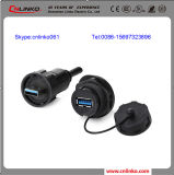 Cnlinko Waterproof USB3.0 Conector de cabo / USB 3.0 Plug and Socket