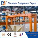 Rebajado de filtro prensa automática con dispositivo automático de lavado de tela para la deshidratación de lodos