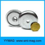 Forte magnete/tazza poco costosi flessibili del POT del neodimio di NdFeB filettati di tiro forza
