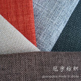 Knitted Backing 옥스포드 Style를 가진 모조 Home Textile Linen Fabric