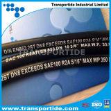 OEM Slang 1sc/2sc van de Draad van het Staal van het Merk de Flexibele Gevlechte Rubber Hydraulische