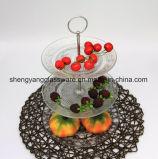 Lastra di vetro di vendita del padellame di vetro promozionale caldo del regalo/piatto per memoria