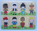 Quebra-cabeças de madeira brinquedo educativo de madeira (34172A)