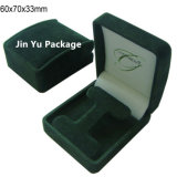 Зеленая коробка упаковки ювелирных изделий Vevlet для шкентеля, ожерелья, кольца, серьги