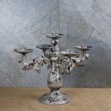 Suporte de vela antigo decorativo do metal dos bens Home