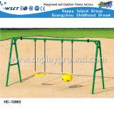 Bambini Playsets esterno (HC-13806) del campo da giuoco dell'oscillazione e della trasparenza del cortile