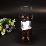 Lanterne extérieure portative légère campante rechargeable lumineuse superbe extérieure 6 de DEL de la lampe solaire 60lm DEL de lanterne