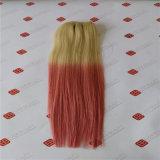 機械はブラジルのインドの人間の毛髪の拡張の毛のよこ糸を作った