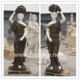 Escultura de mármore em pedra esculpida em estátua de mármore (MST-005)