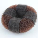 Gancho y bucle Chignon pelo marrón Donut (BUN-04)