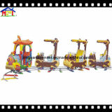 El Equipo de Parque de Diversiones modelo eléctrico con la vía de tren