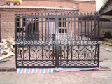 Garde-corps en fonte, clôture de jardin, porte de fer (GS-CRF-005)