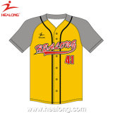 Healong Hot Sale Sports Wear Custom SUBLIMATION Maillot de baseball pour les hommes