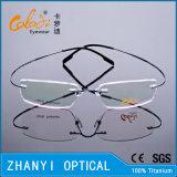 Monocolo di titanio Semi-Senza orlo Eyewear del blocco per grafici di vetro ottici di modo senza orlo leggero con Hyperelastic (1503-EW)