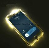 O produto novo projeta a caixa clara por atacado do telefone de pilha do diodo emissor de luz de China para o caso móvel da tampa do iPhone 5/6/6s