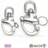 Acciaio inossidabile del hardware di sartiame 304/316 di anello di trazione Twisted per i montaggi marini