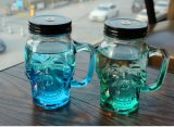 空の頭骨のガラスマグのガラスコップのガラス製品