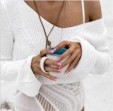 숙녀 형식 디자이너 봄 가을 동안 섹시한 간결 v 목 스웨터 스웨터