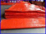 Traitement UV 8X8 le tissage de la bâche de protection PE Orange couverture de béton avec de la mousse