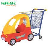 Kind-Einkaufswagen mit Plastikbaby-Spaziergänger