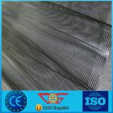 Estiramiento PP uniaxiales negros Geogrid plástico (UX)