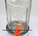 Frasco de armazenamento de bebidas de vidro com balde de gelo e torneira