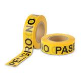 非粘着性がある赤くおよび白い注意テープ安全警告テープ