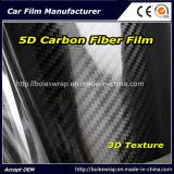 Высокая лоснистая пленка обруча автомобиля винила волокна углерода текстуры 5D черноты 3D