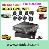 Автомобиль систем видеонаблюдения 4CH HD SDI твердотельных жестких дисков для мобильных ПК DVR с 3G 4G WiFi GPS