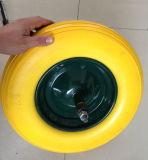 Roda de PU de alta qualidade com tampa de eixo e plástico