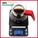 タイマー機能の熱い販売のデジタル電子コーヒー台所スケール