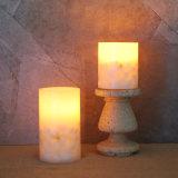 La decoración del hogar sin Flama Pilar velas LED de 2-Pack de conchas de mar