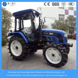 70HP 4WD Fazenda Agrícola / Faming / Garden / Lawn / Paddy Tire 6-Cylinder Tractor with Cabin