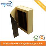 Brown-Buch-Art schachtelt Papiergeschenk-verpackenkasten mit Schaumgummi