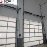 Промышленная легкая поднимаясь дверь гаража зеркала алюминия делая водостотьким секционная