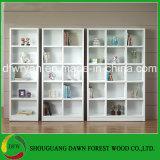 Weißer Farbe Kraftstoffregler-Vorstand-Büro-Möbel-Bücherschrank