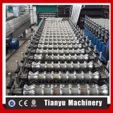 Metal hidráulico do PLC da estaca corrugado telhando o rolo da folha que dá forma à máquina