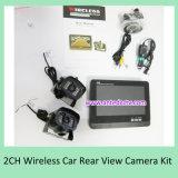 Câmeras reversas sem fio de 2 canais para veículos