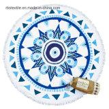 最上質の綿の印刷の円形のビーチタオル