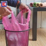 주문 플라스틱 HDPE/LDPE 편평한 롤에 있는 물개에 의하여 접히는 쓰레기 봉지